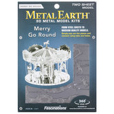 Merry Go Round Metal Earth 3D Model Kit